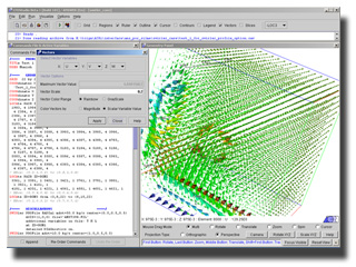 CFDStudio screenshot. This is postprocessing of a Swirler Profile case.